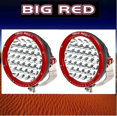 Big Red 220mm High Power 30 x 5 w Cree Led 150w Pair Driving Lights BR9030
