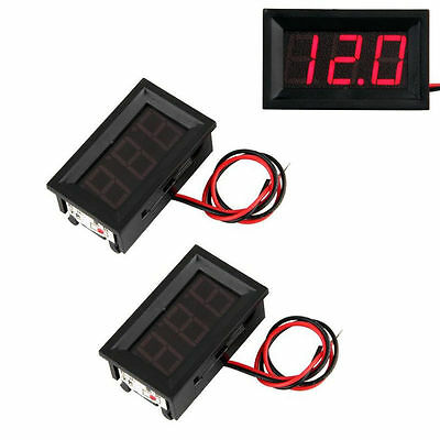 1 x 4.5v to 30v VOLTAGE METER DUAL BATTERY MONITOR CAR 4WD 4X4 BOAT CAMPER TENT