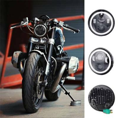 """5.75inch 5 3/4"""" Cree LED Headlight with Angel eyes Halo Ring for Harley Davidson"""