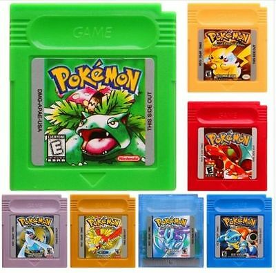 New Game Cards For Nintendo Pokemon GBC Game Boy Color Yellow Blue Version