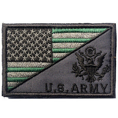 Usa Flag & U.s. Army Morale Badge Tactical Military Patches Hook Loop Patch -06