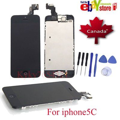 For iPhone 5C Touch Screen Digitizer complete Assembly Display Replacement Black