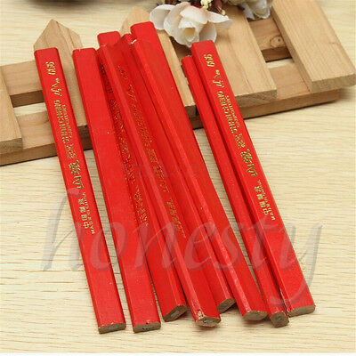 5x 175mm Carpenters Pencils Black Bolder Lead For DIY Builders Joiners Woodwork