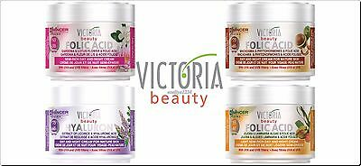 Face Cream Victoria Beauty Day & Night - Hyaluronic or Folic Acid, Anti-Wrinkle