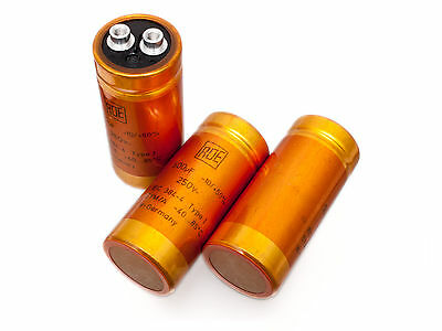 [1pc] Roederstein EYM/A 500uF 250V radial electrolytic capacitors Golden Bullets