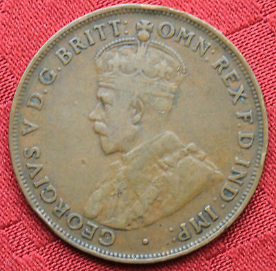 1921 KGV AUSTRALIAN PENNY Pre DecimalCoin - Circulated - GREAT INVESTMENT