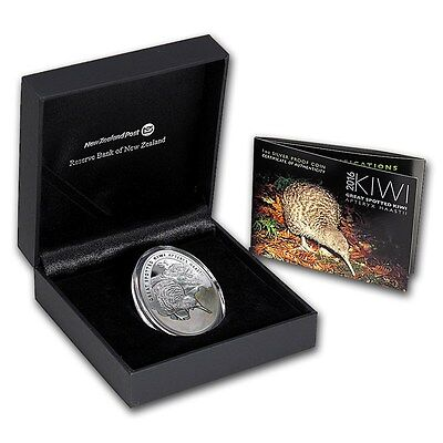 New Zealand -2016- Silver $1 Proof Coin- 1 OZ  Kiwi Proof Egg Shape