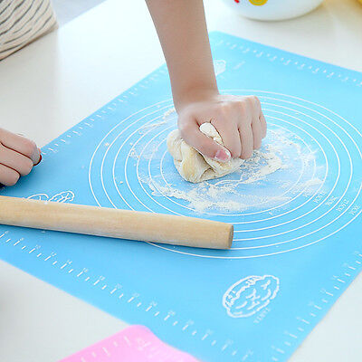 50x40CM Silicone Rolling Fondant Mat For Small Cake/Pudding/Jelly/Bread/Pizza