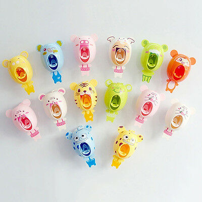 Automatic Cartoon Cute Animal Hands Free Toothpaste Dispenser Squeezer Useful