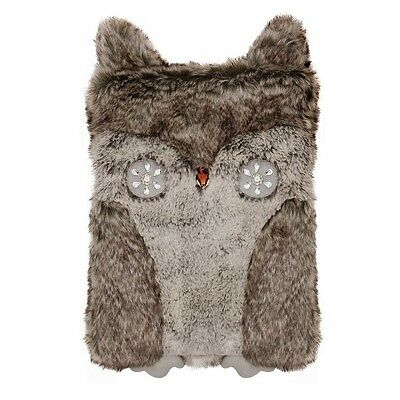 Aroma Home Gorgeous Deluxe Faux Fur Owl Cover 1.5 Litre PVC Hot Water Bottle