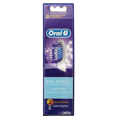 ORAL B PULSONIC TOOTHBRUSH REPLACEMENT HEADS 2pk x1
