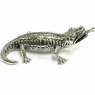 Collectable Quality Victorian Style Lizard Figurine 925 Sterling Silver