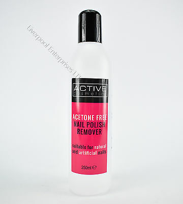 Active Cosmetics Acetone Free Nail Polish Remover Suitable 4 Natural Artificial