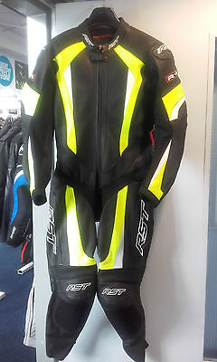 RST 1067 R-16 Mens Leather One Piece Suit - Flo Yellow 42