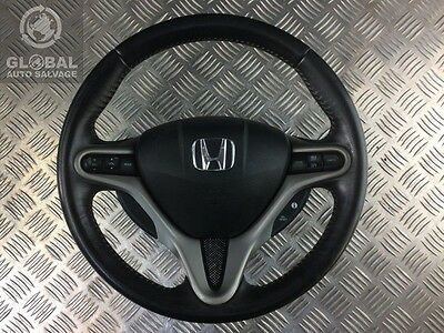 06-12 Honda Civic Mk8 Leather Multifunction Steering Wheel With Airbag