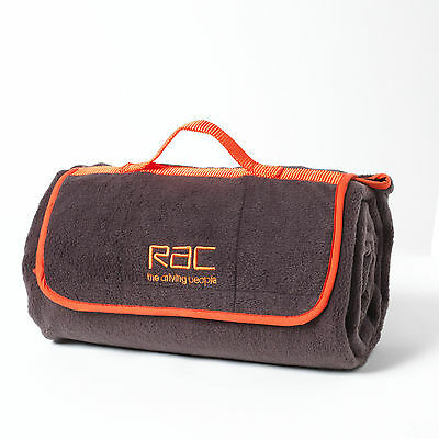 Roll Up Travel Blanket With Carry Handle, RAC, RRP £19.99, 123 x 145 x 4cm