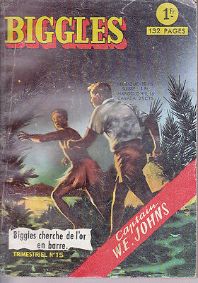 Biggles N° 15 De 1966 Biggles Cherche De L'or En Barre Editions Aredit