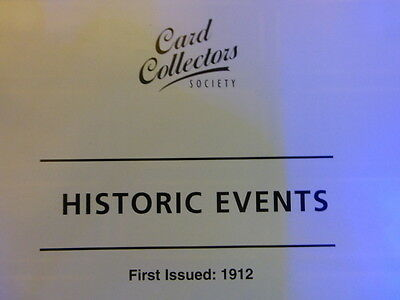 "Card Collectors Society Full Reproduction Set WILL'S ""HISTORIC EVENTS"" 1912"