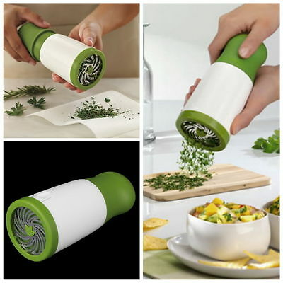 Microplane Herb Mill Chopper Mince Chop Herbs Finely Quickly Safely Easily DB