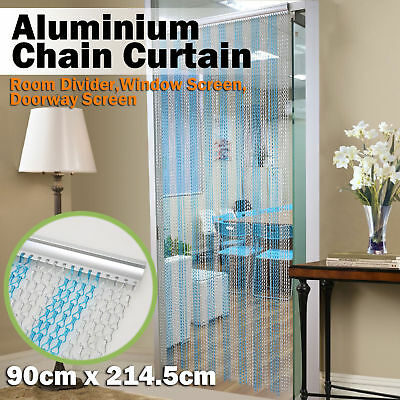 Sliver Aluminium Chain Curtain Metal Screen Fly Insect Blinds Pest Control
