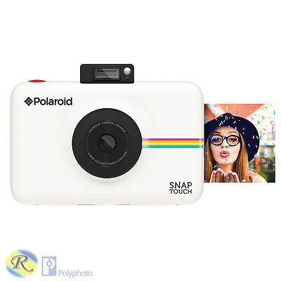 "Polaroid Snap Touch Bianca Istantanea + Lcd Zink 2X3"" Nuova Polyphoto"