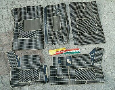 Tappeti in gomma Ford Fiesta vintage epoca carpets teppiche car mats old 70/80