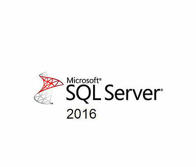 Microsoft SQL Server 2016 Standard Edition - 1 Server 10 CAL's