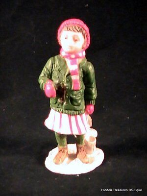 Coca-Cola Town Square Collection-Girl With Ice Skates Figurine