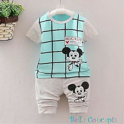 B009 - Baby Boy Aqua Mickey Sleepwear Set ages 9 months to 4 years