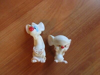 Dakin 1995 Warner Brothers Animaniacs Pinky & the Brain Figures  NOS