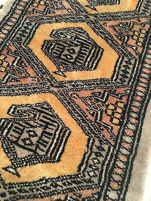 Vtg Mid Century/Hollywood Regency Small Runner Persian/Middle Eastern Wool Rug