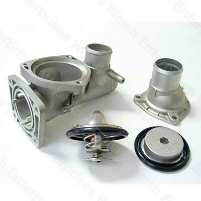 Jaguar XJ8 / XK8 Aluminum Thermostat Housing Kit WITH THERMOSTAT - AJ82217 KIT