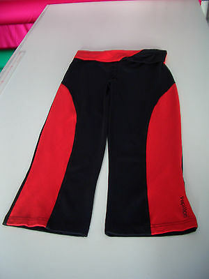 3/4 Pantaloni jazz - danza Sport Supplex - nero rosso scuro - Tgl M (38)