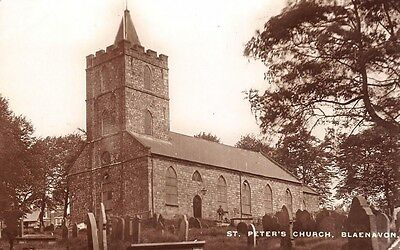 WALES - BLAENAVON, St Peter's Church, Monmouthshire - Real Photo