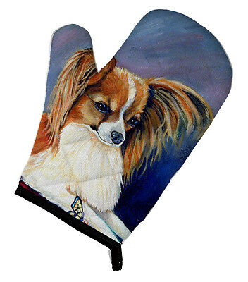 Carolines Treasures  7038OVMT Papillon Rose and Butterfly Oven Mitt