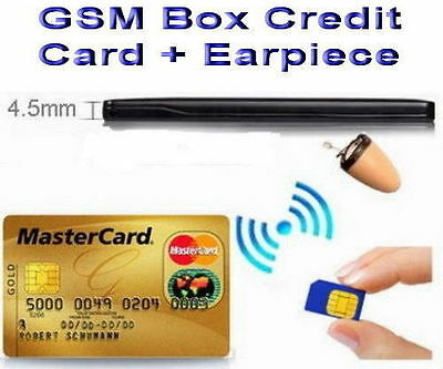 3rd Gen Spy Credit Card & Earpiece Hidden for Cheat Exam & Test