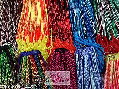 LOT of 50FLAT FRIENDSHIP BRACELETS MACRAME NEON COLORS HANDMADE