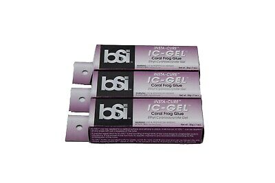 3 Tubes BSI IC-GEL 20gm Tube - Coral Frag Glue Super Glue - Free Ship
