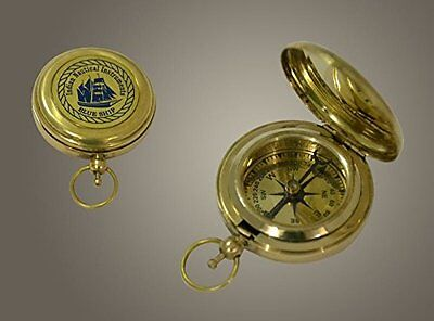 The New Antique Store Brass compass indian nautical instruments blue ship pocket