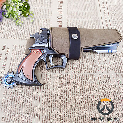 Rye Pioneer OW McCree Gun Revolver Cosplay with Holster Zinc Alloy 7""
