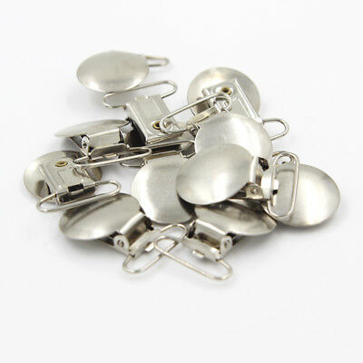 20PCS Lead Metal Suspender Paci Pacifier Ribbon Clips Hook Holder Lanyard Chain