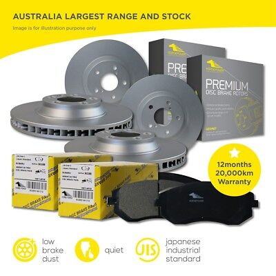 Holden Cruze 2011- Front and Rear Brake Pads + Rotors Full Set 300mm Front Discs