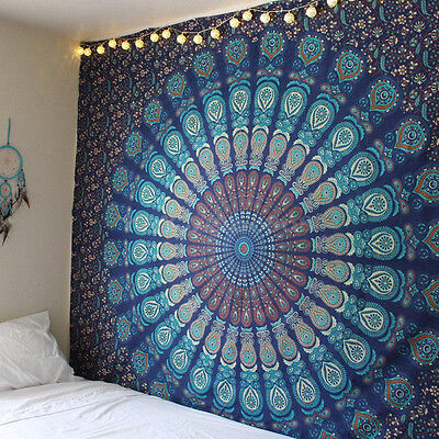 Indian Mandala Hippie Wall Hanging Bedspread Dorm Throw Bohemian Queen Tapestry