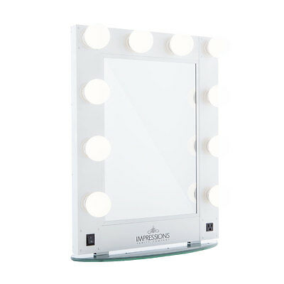 Impressions Vanity Hollywood Glamour Makeup Vanity Mirror   FREE LEDs    SHIPPING. Touch Pro Makeup Mirror from Impressions Vanity in WHITE    149 00