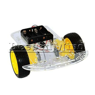 2WD Smart Robot Car Chassis 2 motor Kits Speed Encoder Battery Box For Arduino