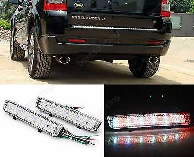 2X Bumper Reflector LED Turn Signal Stop Light Range Rover L322 Freelander LR2