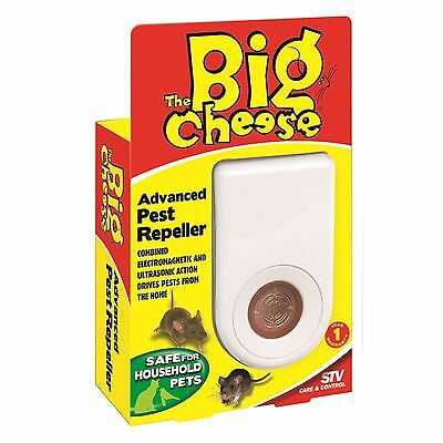 The Big Cheese ADVANCED PEST REPELLER Combined Electromagnetic Ultrasonic Action