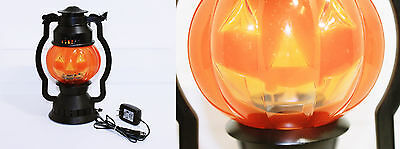 "Vintage Electric Halloween Lighted 11"" Pumpkin Jack O' Lantern - FREE SHIPPING"