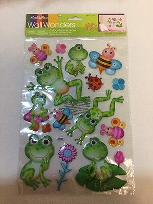 Child's Room Vinyl Art Decor Stickers Frogs~Bee's~Flowers~Removable~Reposition N