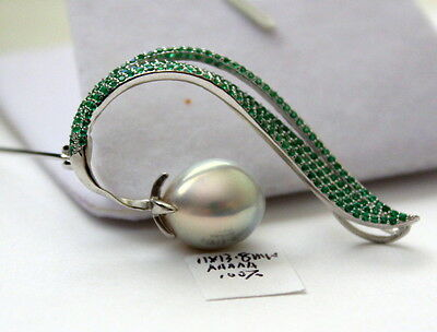 Aaaaa 13.8Mm Japanese Kasumi Pearl Brooches Sterling Silver